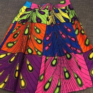 African Ankara print skirt